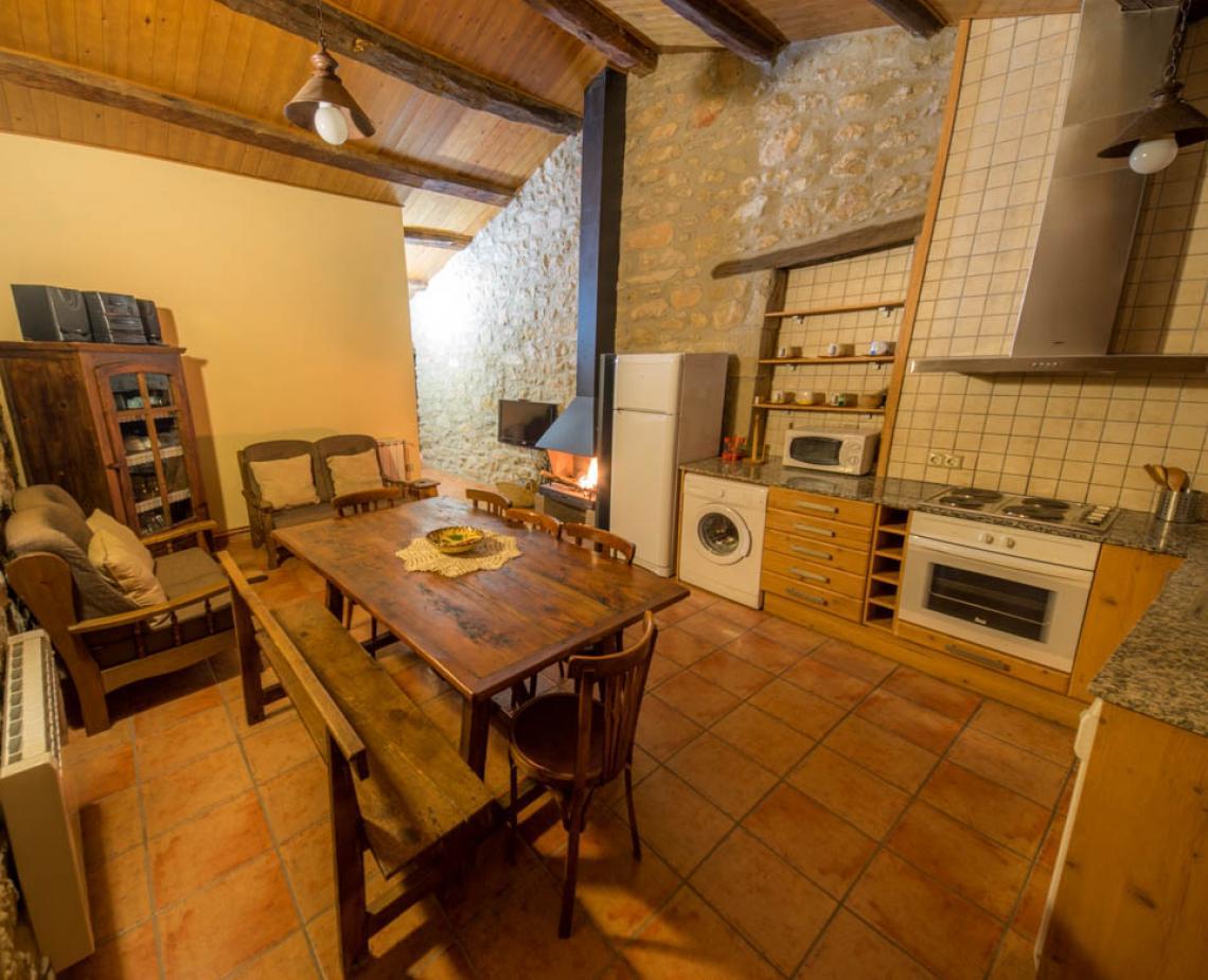Apartament rural Casafont II - Menjador-cuina